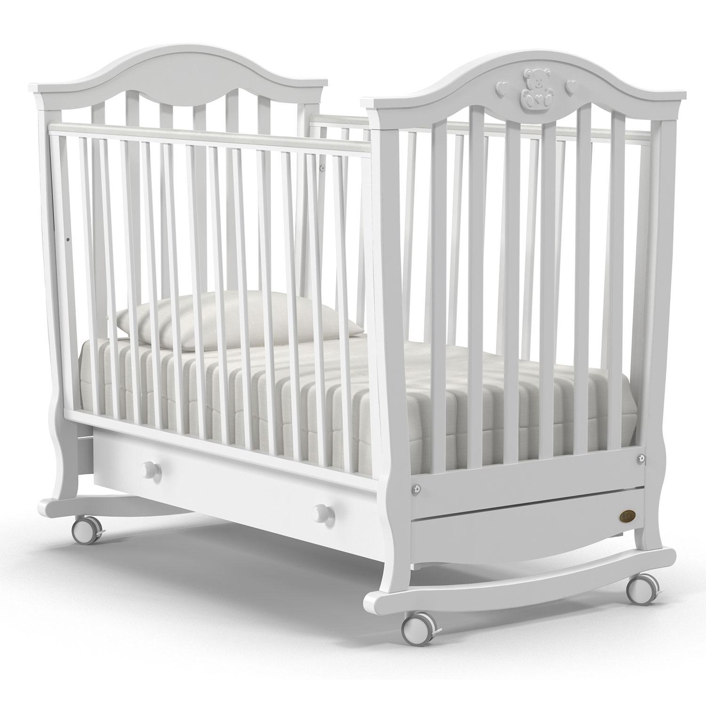 Купить Детская кровать Nuovita Sorriso dondolo, bianco/белый