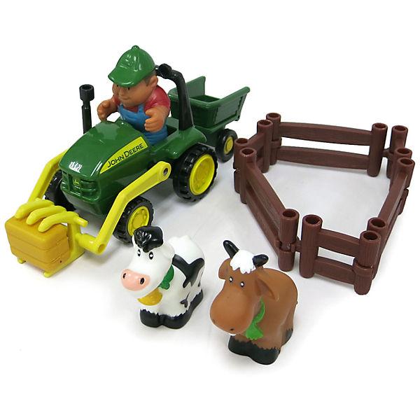 Моя первая ферма  Набор с погрузчиком - Игровые наборы Зоопарк, Ферма, артикул: 162316