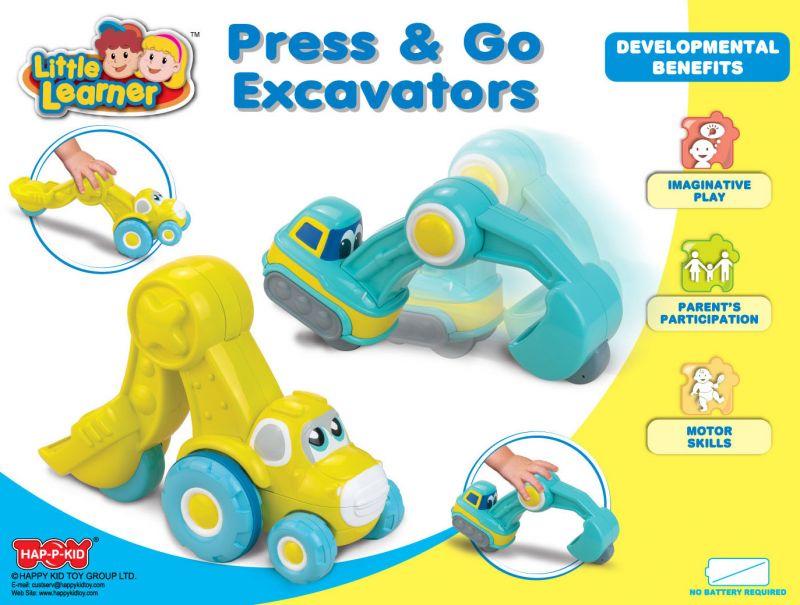 Экскаватор синий из серии Нажми и поедетМашинки для малышей<br>Экскаватор синий из серии Нажми и поедет<br>
