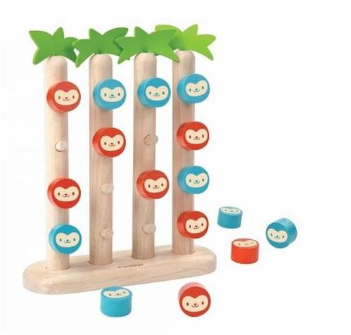 картинка Настольная игра деревянная - Четыре обезьянки в ряд от магазина Bebikam.ru