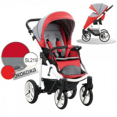 Детская прогулочная коляска Nico, шасси белая/BIA, цвет - SL219Детские прогулочные коляски<br>Детская прогулочная коляска Nico, шасси белая/BIA, цвет - SL219<br>