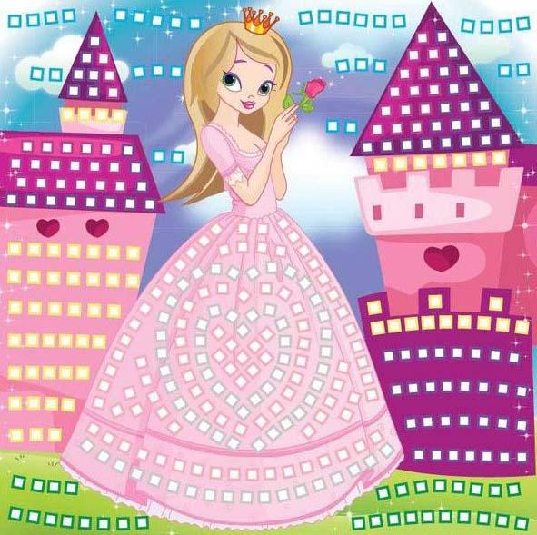 Мозаика для девочек 3 в 1 - Принцесса, Русалочка и Фея, более 1200 деталей, собираем по цветам по цене 581