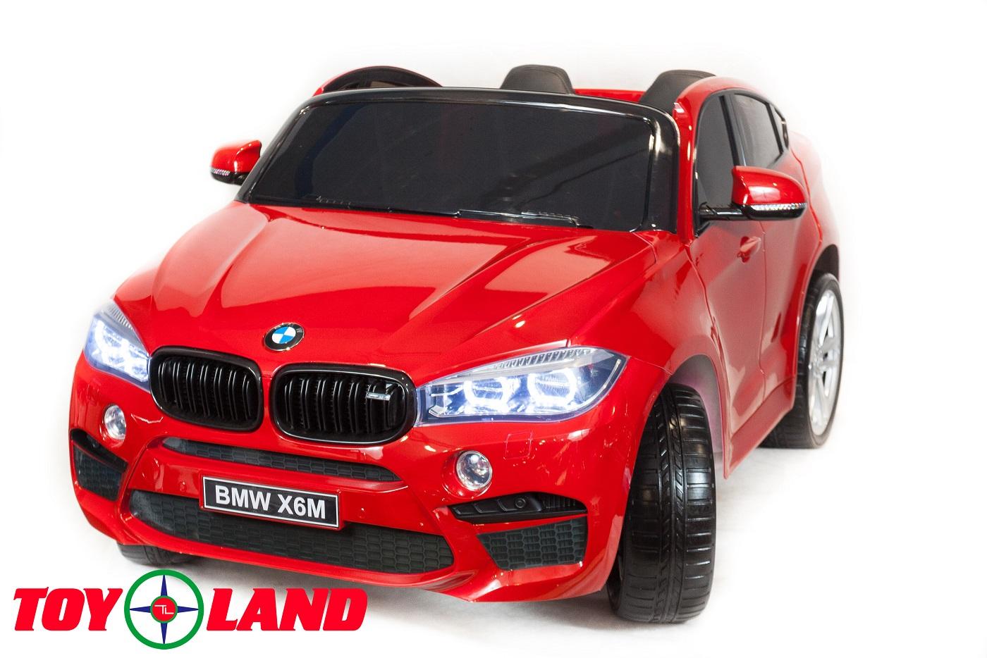 Электромобиль BMW X6, красный