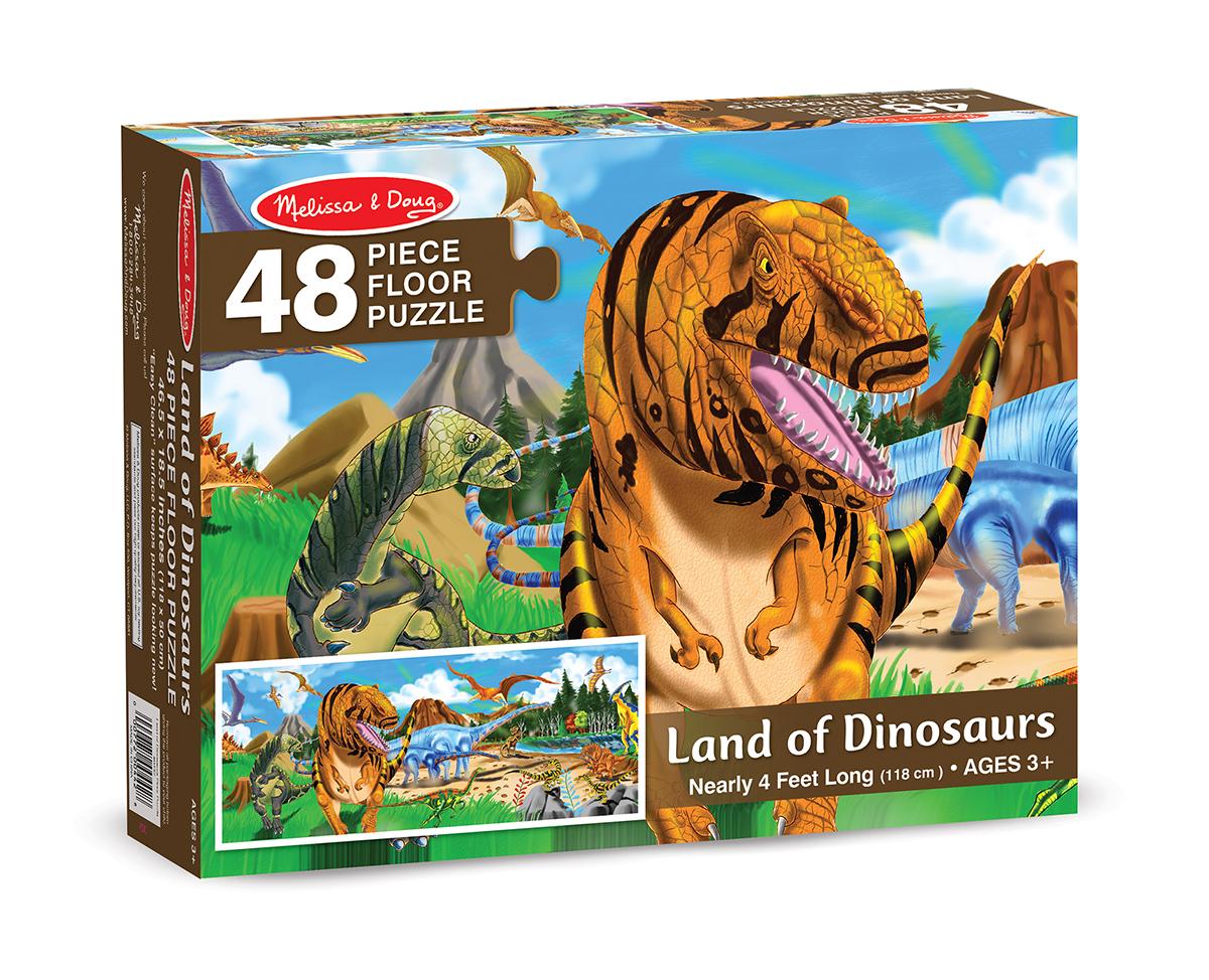 Напольный Пазл – Динозавры, 48 элементовКоврики-пазлы<br>Напольный Пазл – Динозавры, 48 элементов<br>