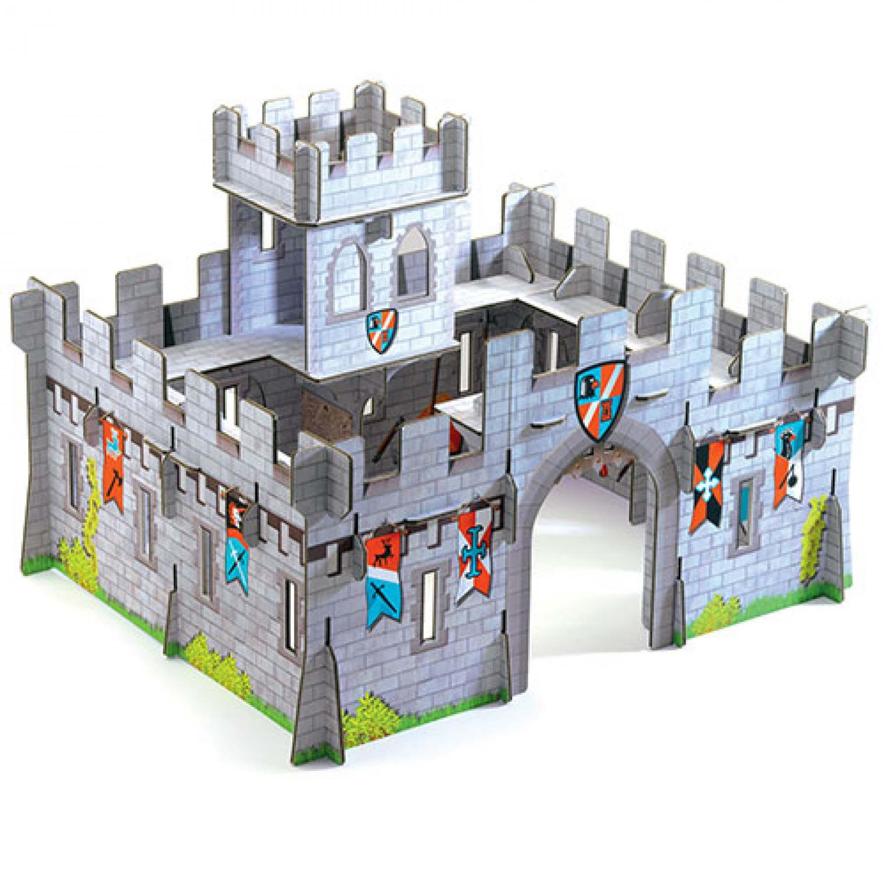 Купить Конструктор из картона - Средневековый замок, 31 деталь, Djeco