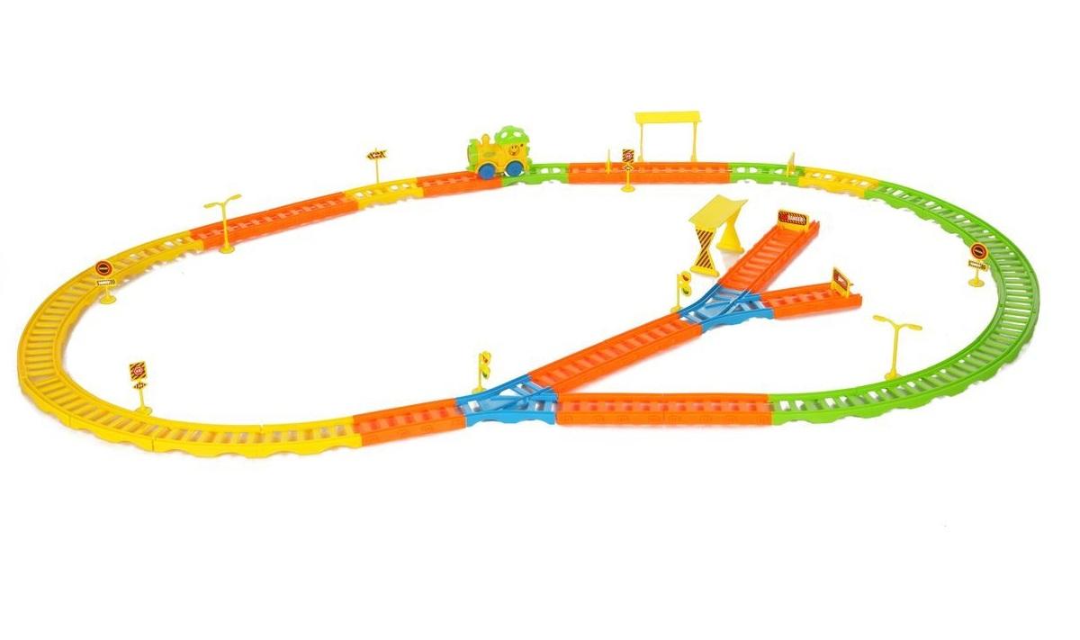 Купить Железная дорога с реверсом, световыми и звуковыми эффектами – Колесо, Yako
