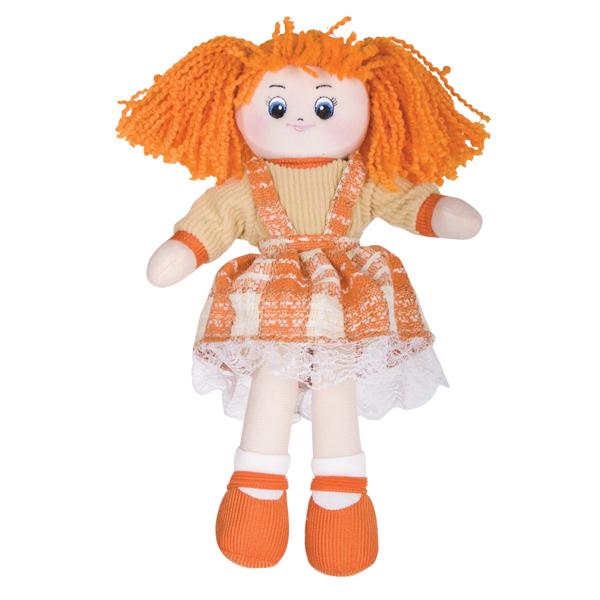 Кукла Апельсинка в клетчатом платье , 30см - Мягкие куклы, артикул: 19411