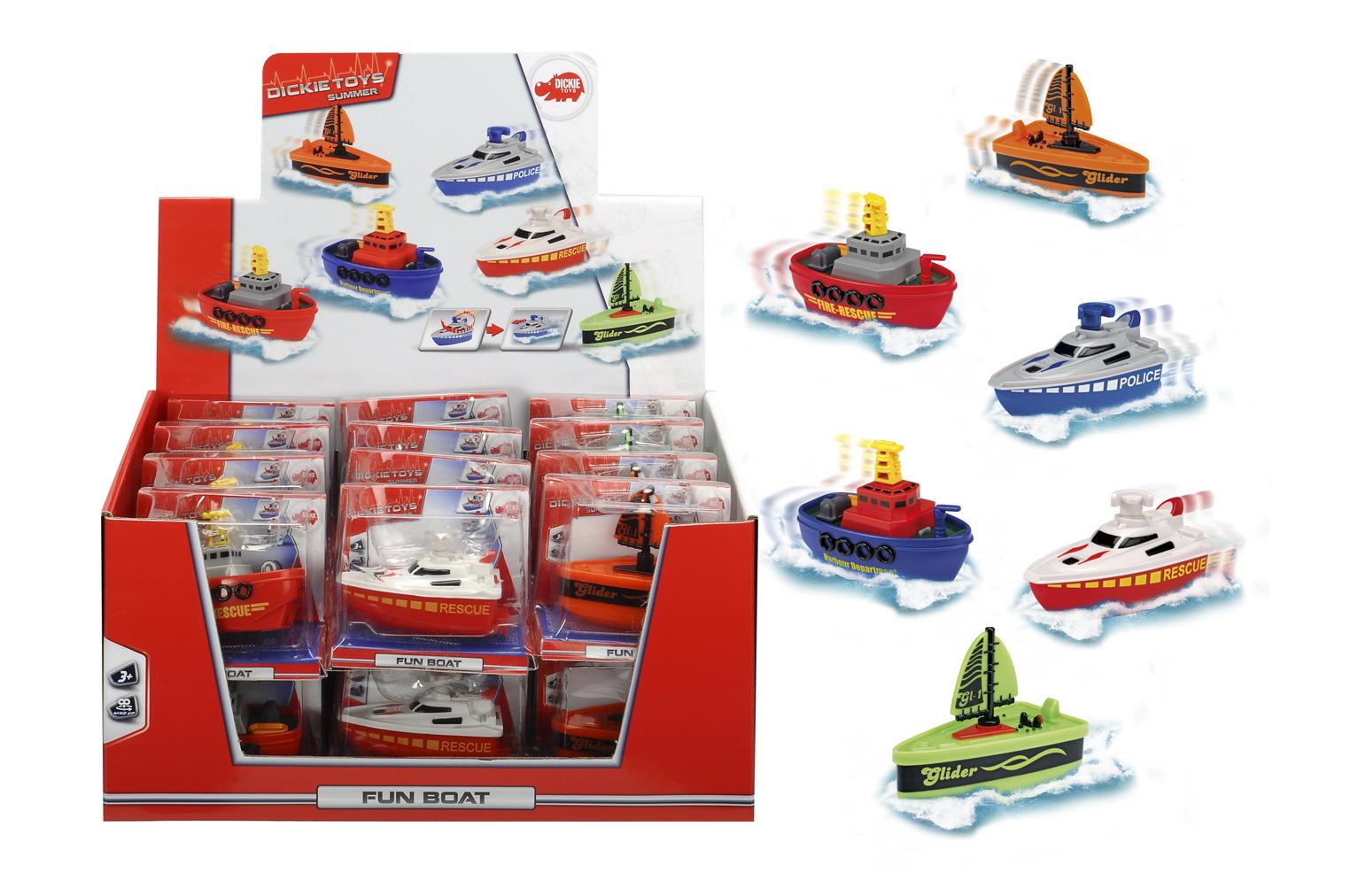 Веселая заводная лодка, 6 см.Игрушки для ванной<br>Веселая заводная лодка, 6 см.<br>