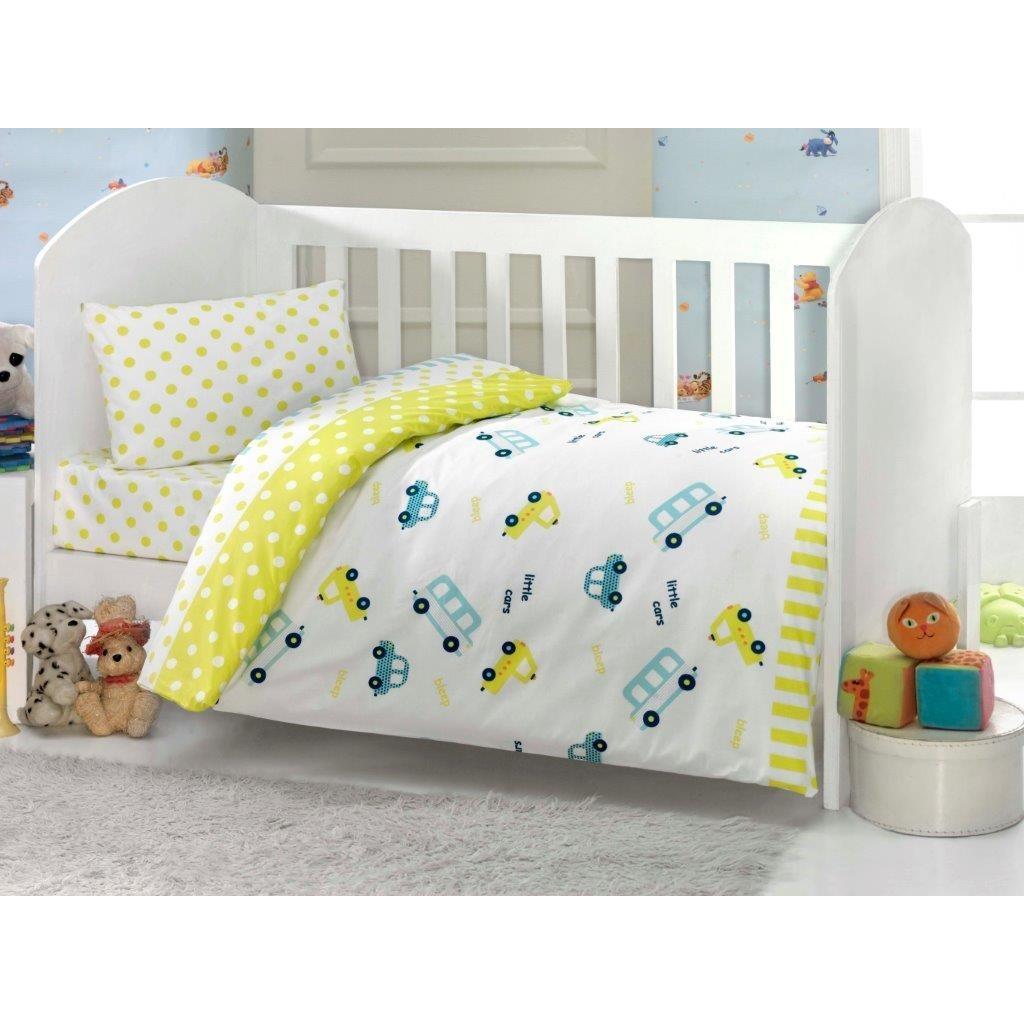 Комплект постельных принадлежностей из 6-ти предметов Тм Ups Pups серии Машинка, цвет – желтыйДетское постельное белье<br>Комплект постельных принадлежностей из 6-ти предметов Тм Ups Pups серии Машинка, цвет – желтый<br>