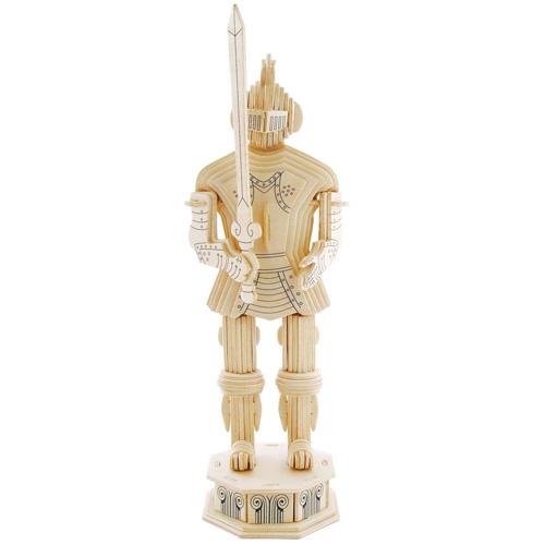 Модель деревянная сборная - Рыцарь 1Пазлы объёмные 3D<br>Модель деревянная сборная - Рыцарь 1<br>