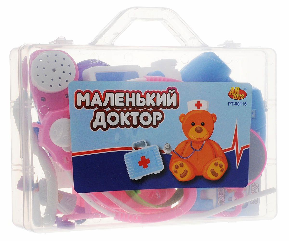 Набор Маленький доктор в чемодане, 16 предметовНаборы доктора детские<br>Набор Маленький доктор в чемодане, 16 предметов<br>