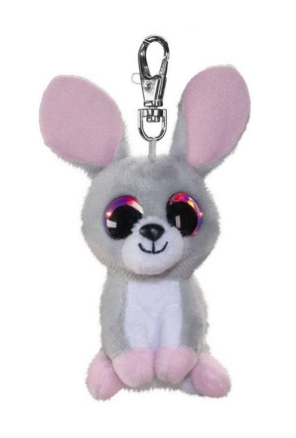 Брелок - Кролик Pupu, серый, 8,5 см