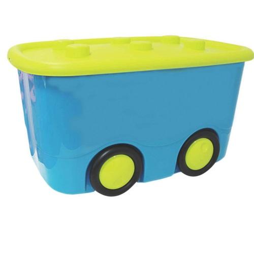 Ящик для игрушек - Моби, бирюзовыйКорзины для игрушек<br>Ящик для игрушек - Моби, бирюзовый<br>