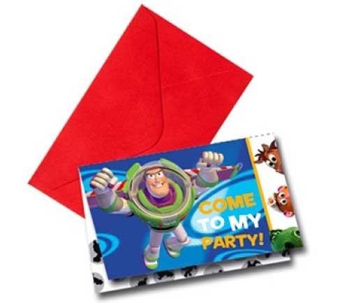 Приглашение в конвертах  Toy StoryИстория игрушек<br>Приглашение в конвертах  Toy Story<br>