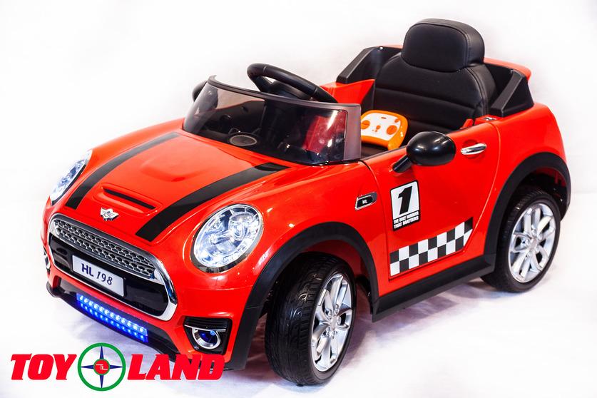 Электромобиль Mini Cooper красныйЭлектромобили, детские машины на аккумуляторе<br>Электромобиль Mini Cooper красный<br>