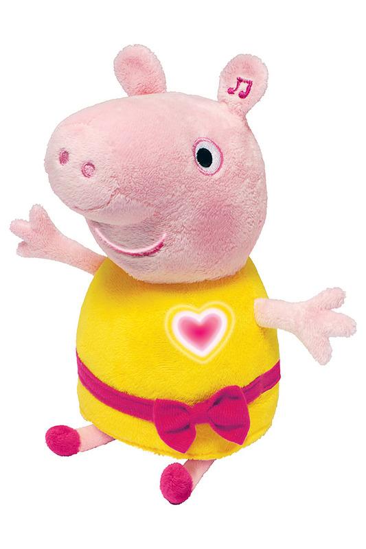 Мягкая игрушка Пеппа, 30 см, Peppa Pig со светом и звуком, Росмэн  - купить со скидкой