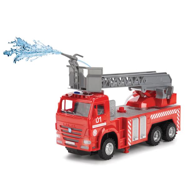 Купить Радиоуправляемая пожарная машина «Камаз» со светом и звуком, 25 см, Технопарк