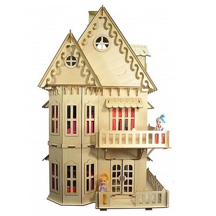 Конструктор из дерева  Чудо-Дом, 131 деталь, 70 см - Деревянный конструктор, артикул: 170018