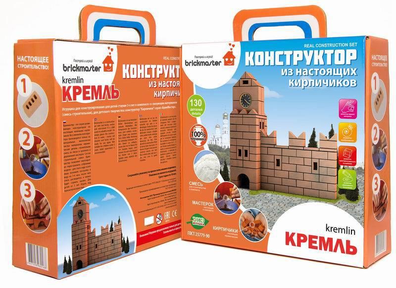 Конструктор Кремль» из настоящих кирпичиков, 130 деталейКонструкторы из кирпичиков<br>Конструктор Кремль» из настоящих кирпичиков, 130 деталей<br>