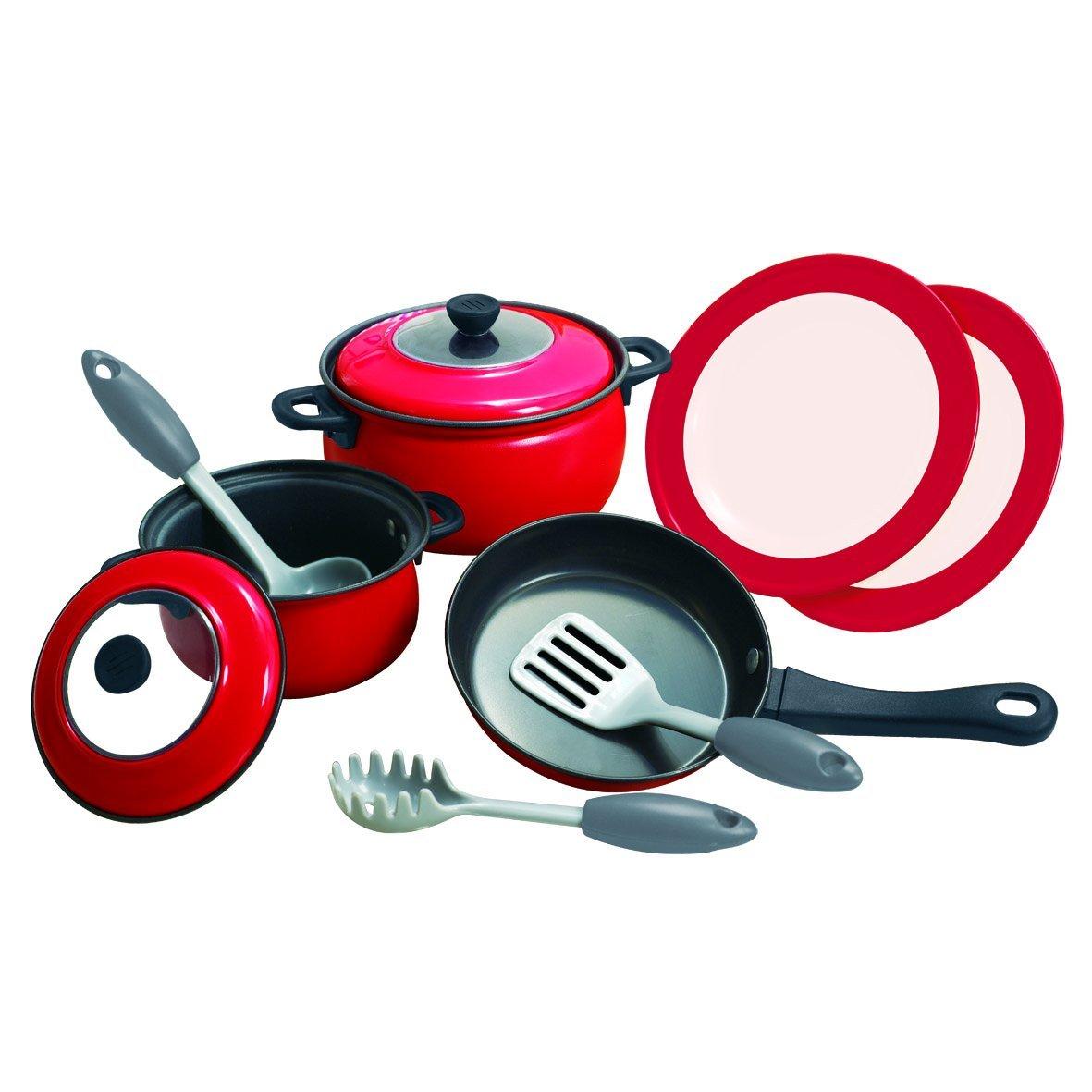 Игровой набор металлической посуды, 10 предметовАксессуары и техника для детской кухни<br>Игровой набор металлической посуды, 10 предметов<br>