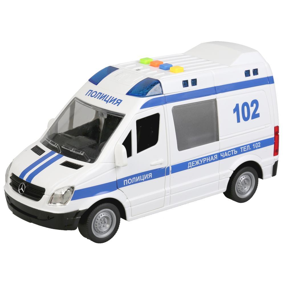 Купить Инерционная машина Mercedes-Benz Sprinter – Полиция, 22 см, Технопарк