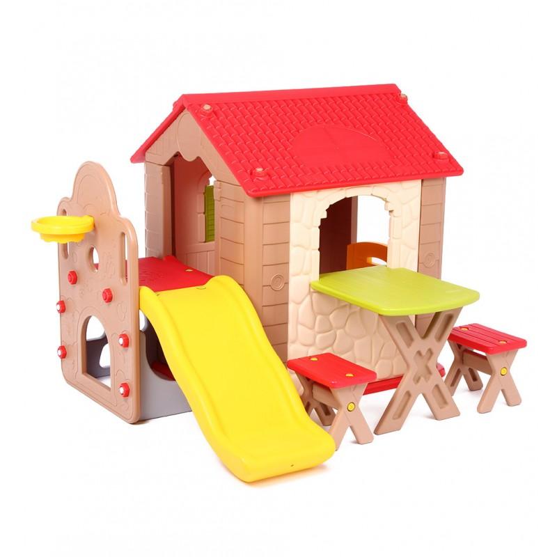 Детская игровая зона с домикомПластиковые домики для дачи<br>Детская игровая зона с домиком<br>