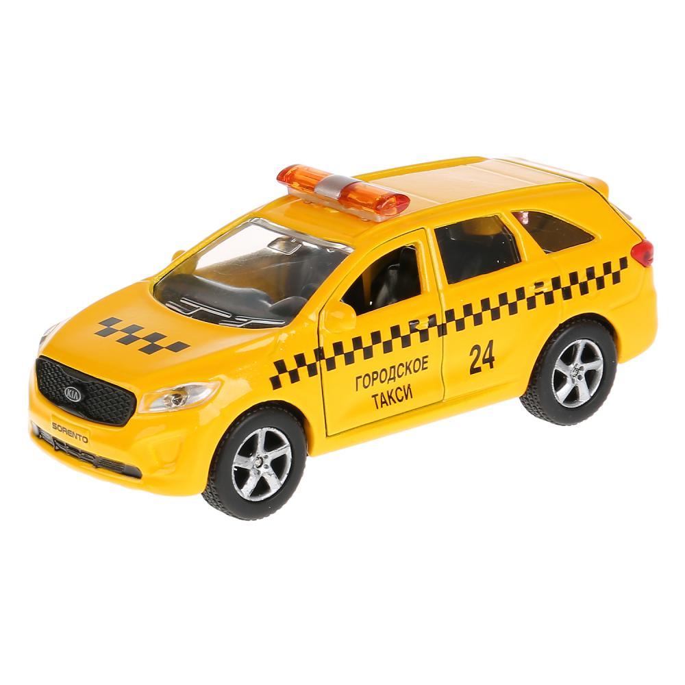 Купить Металлическая инерционная модель – Kia Sorento Prime Такси, 12 см, Технопарк