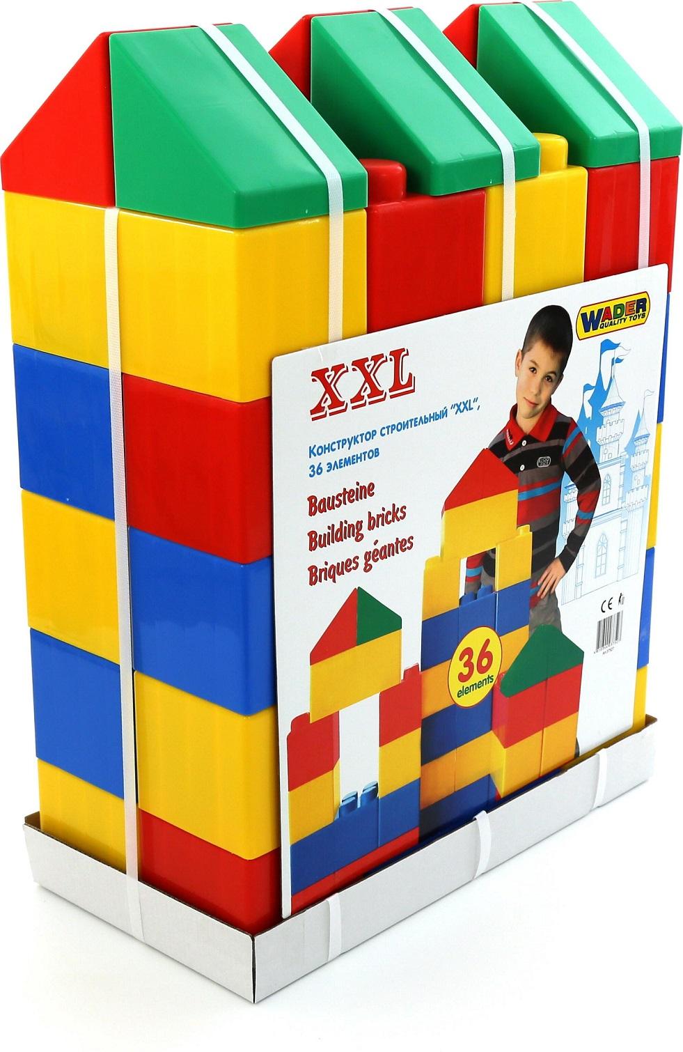 Конструктор строительный размер XXL, 36 элементовКонструкторы Полесье<br>Конструктор строительный размер XXL, 36 элементов<br>