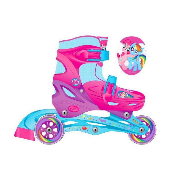 Ролики раздвижные с пластиковой рамой, размер 28-31, дизайн Моя маленькая пони Psim) - Роликовые коньки детские, артикул: 156831