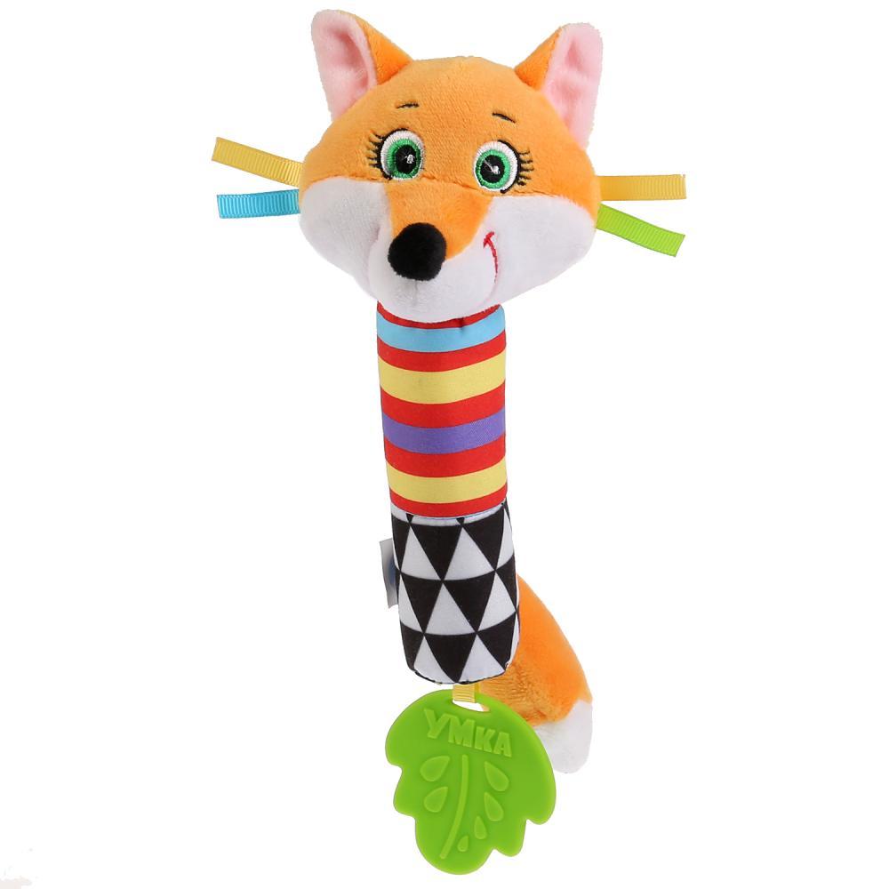 Текстильная игрушка-пищалка - Лиса фото