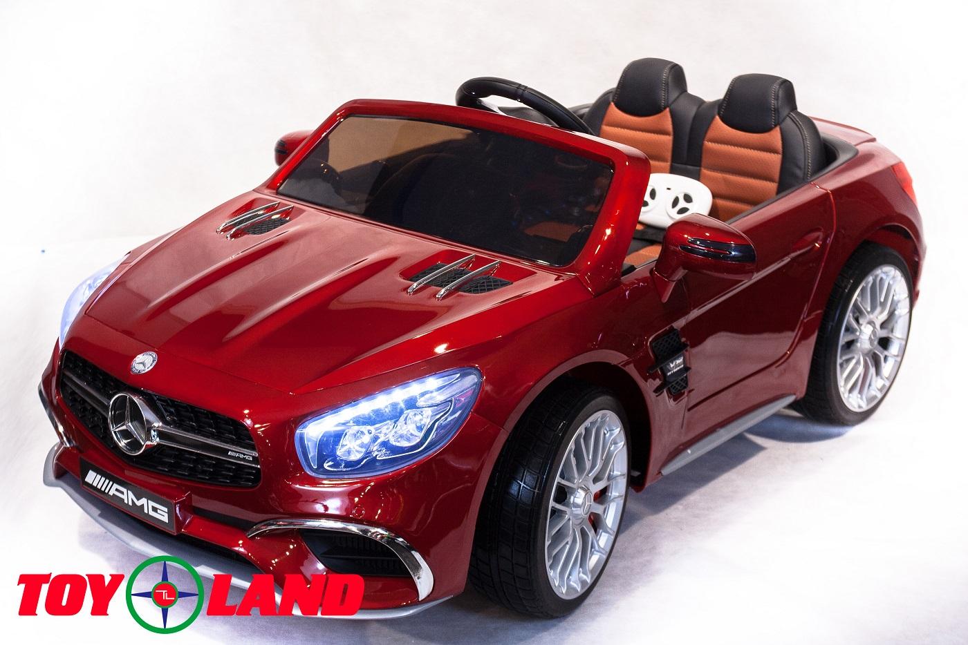 Электромобиль Mercedes-Benz SL65, цвет – красныйЭлектромобили, детские машины на аккумуляторе<br>Электромобиль Mercedes-Benz SL65, цвет – красный<br>