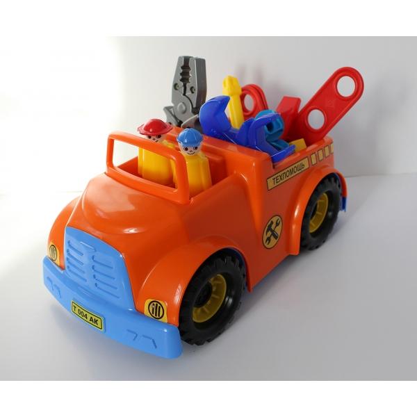 Игрушечный автомобиль с аксессуарами. ТехпомощьМашинки для малышей<br>Игрушечный автомобиль с аксессуарами. Техпомощь<br>