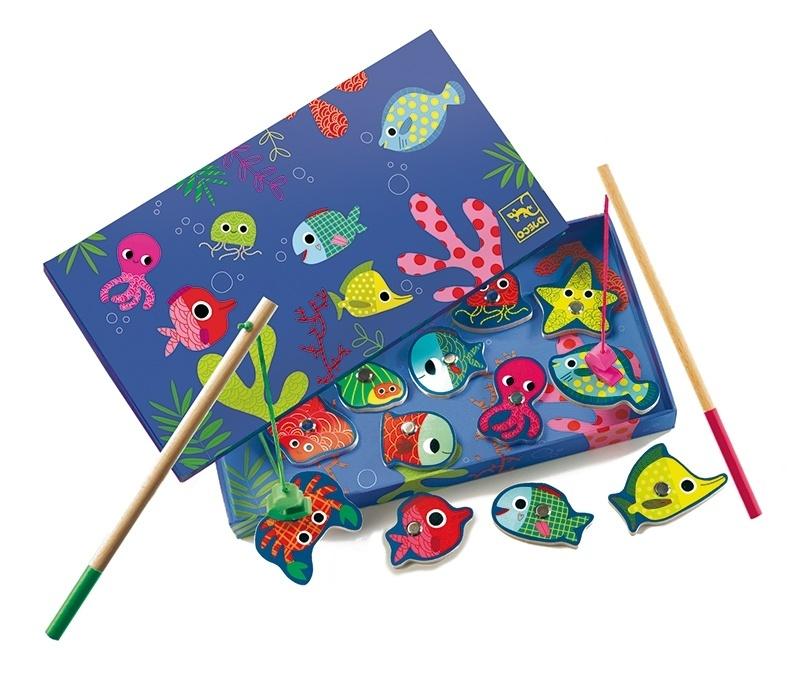 Купить Магнитная игра рыбалка Цвета, Djeco