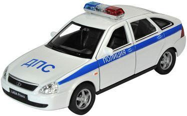 Игрушечная металлическая машина LADA 2107 PRIORA «Полиция» масштаб 1:34-39LADA<br>Игрушечная металлическая машина LADA 2107 PRIORA «Полиция» масштаб 1:34-39<br>
