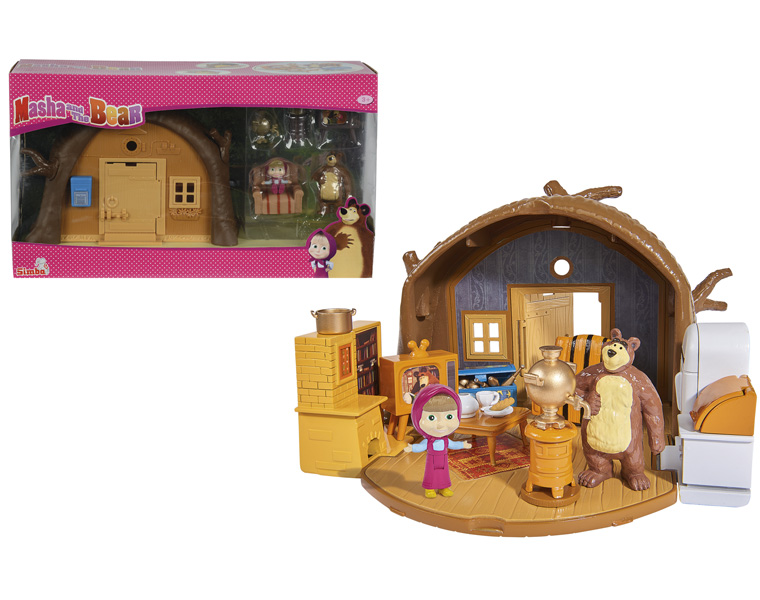 Домик Миши с фигуркой Миши и аксессуарами - Маша и медведь игрушки, артикул: 126710