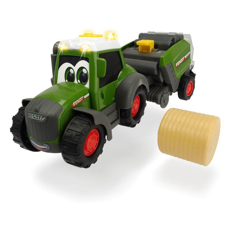 Купить Трактор Happy Fendt с прессом для сена, 30 см, свет и звук, Dickie Toys
