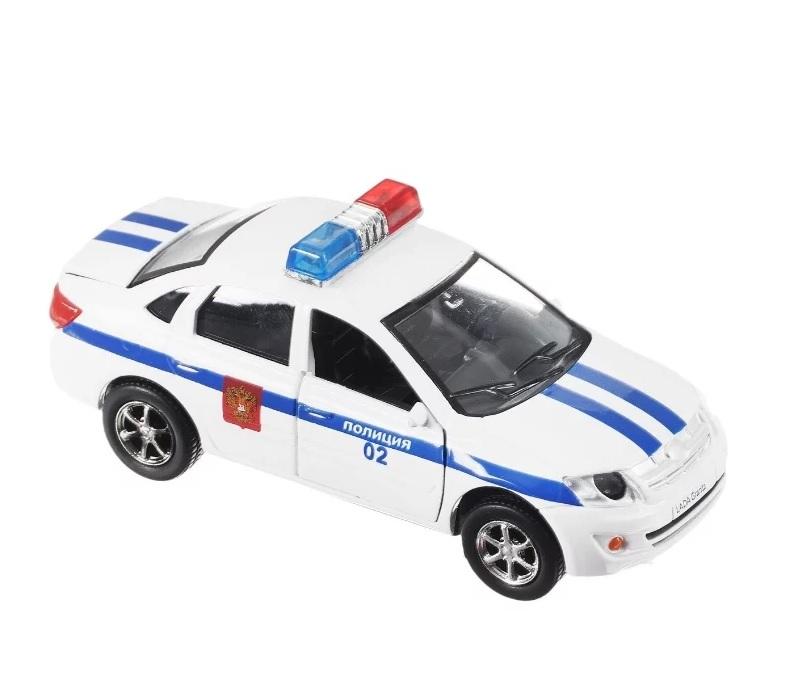 Купить Инерционная машина Лада Гранта Полиция, свет, звук, 1:43, Технопарк