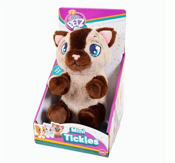Котенок интерактивный бежево-коричневый, со звуковыми эффектами, шевелит лапками