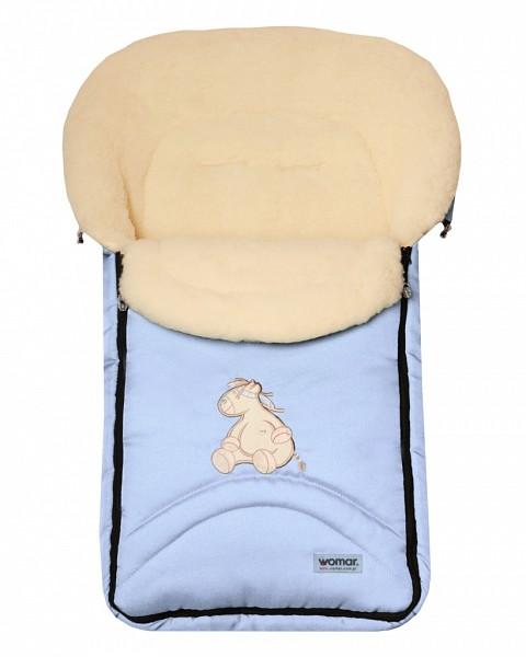 Спальный мешок в коляску №07  North pole, голубой - Прогулки и путешествия, артикул: 171053