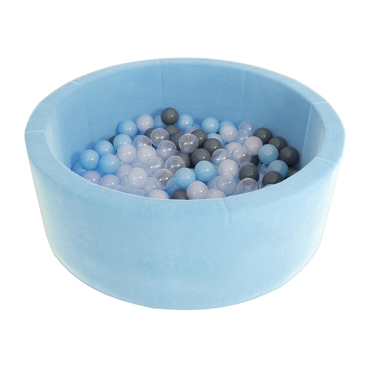 Купить Детский сухой бассейн Romana Airpool Max голубой со 100 шарами, Romana (Романа)