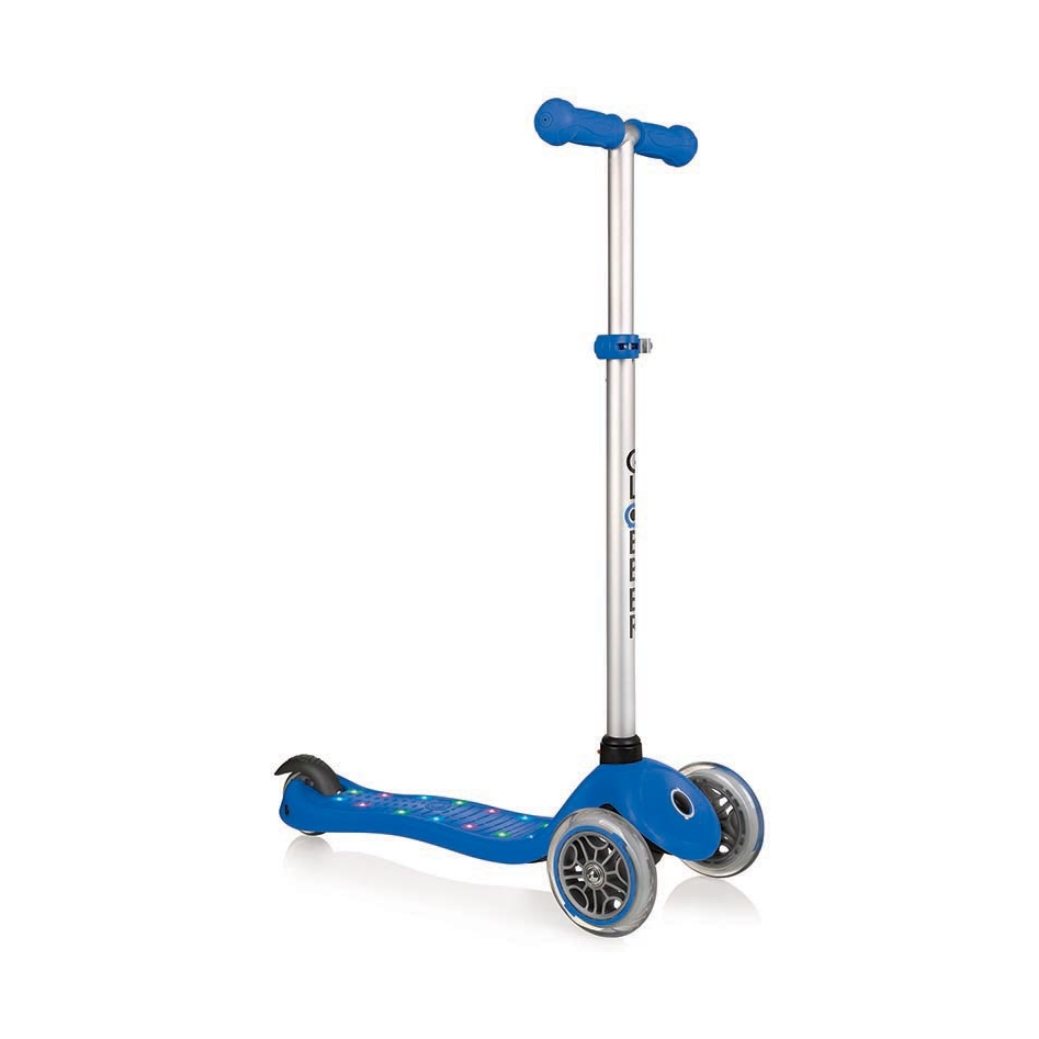 Купить Трехколесный самокат Globber Primo Starlight, светящаяся платформа, синий
