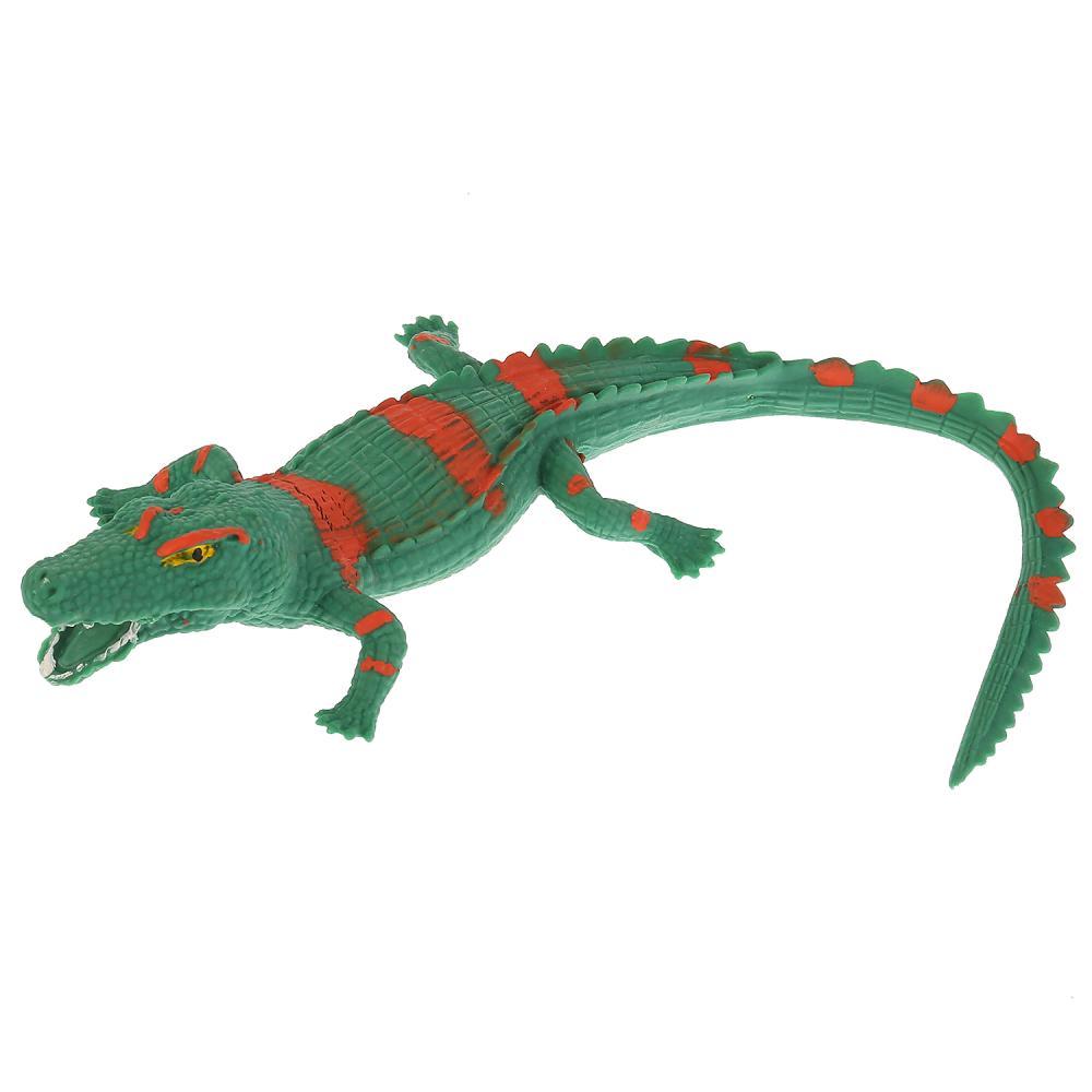 Купить Игрушка пластизоль тянучка/гель - Саркозух крокодил, 27 см, Играем вместе