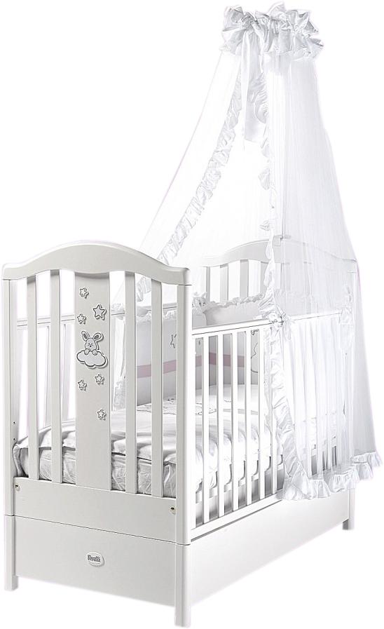 Кровать детская Romance, белаяДетские кровати и мягкая мебель<br>Кровать детская Romance, белая<br>