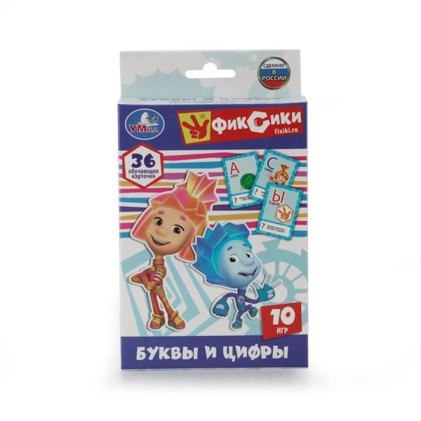 картинка Развивающие карточки Фиксики - Учим алфавит и цифры от магазина Bebikam.ru