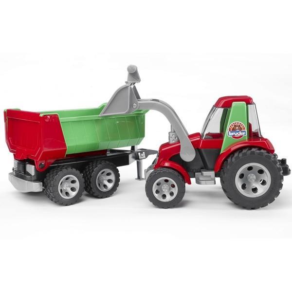 Трактор Bruder с прицепом и ковшом, RoadmaxИгрушечные тракторы<br>Трактор Bruder с прицепом и ковшом, Roadmax<br>