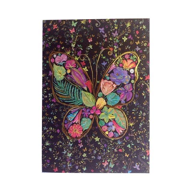 Открытка – Бабочка черная, с конвертом