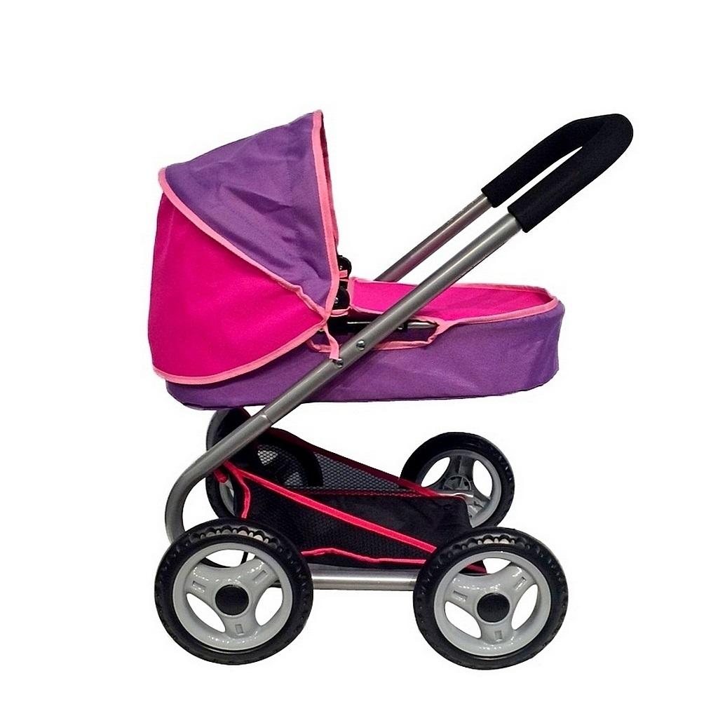Кукольная коляска, цвет фиолетовый и фуксия