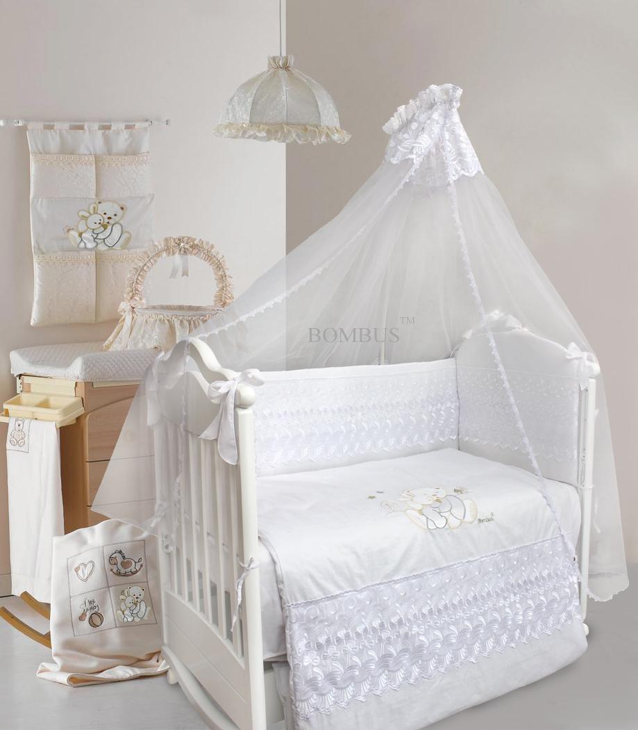 Комплект в кроватку - Happy friends, 7 предметовДетское постельное белье<br>Комплект в кроватку - Happy friends, 7 предметов<br>
