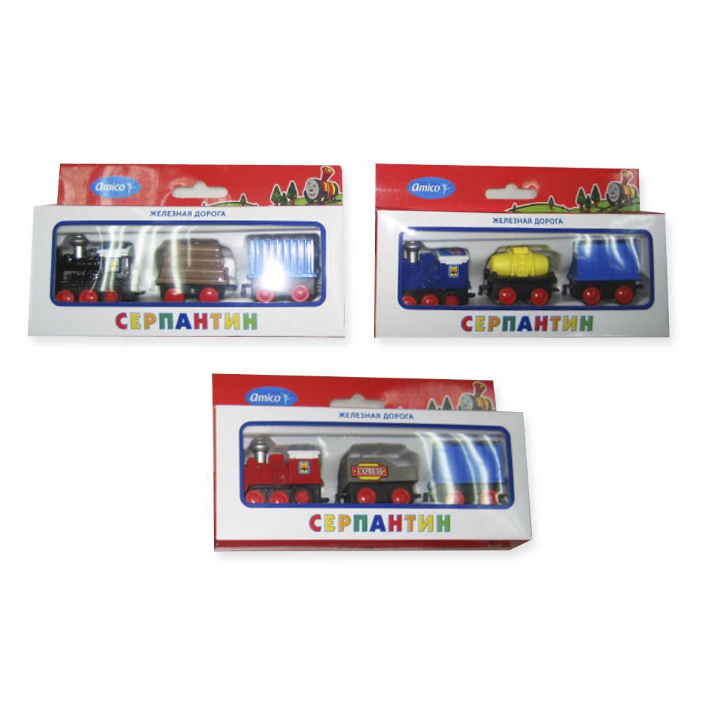 Купить Поезд инерционный, 3 вагона, Amico