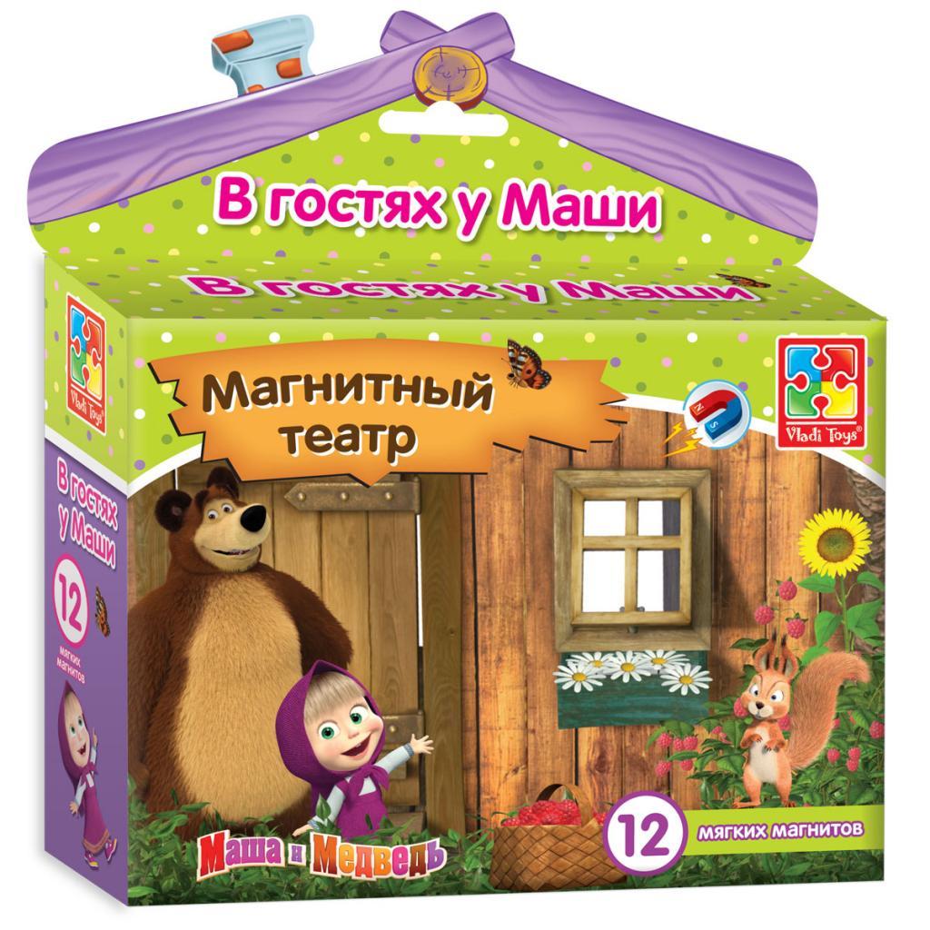 Магнитный театр Маша и Медведь - В гостях у МашиДетский кукольный театр <br>Магнитный театр Маша и Медведь - В гостях у Маши<br>